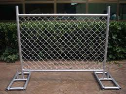 Temporary Chain Link Fencing Applications And Specification In 2020 Chain Link Fence Portable Fence Chain Link Fence Panels