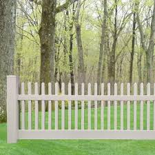 Weatherables Monterey 4 Ft X 8 Ft W White Vinyl Picket Fence Panel Kit Pwpi 1 5r26 4x8 The Home Depot