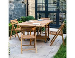 zeno solid oak garden table and 4