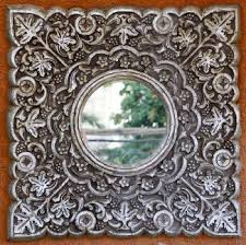 how to paint a mirror frame silver