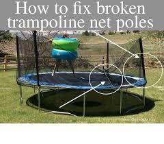 how to fix broken troline net poles
