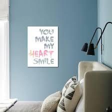 You Make My Heart Smile Stretched Canvas Print Lebens Art Art Com