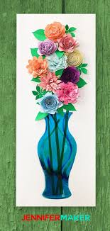 diy paper flower wall art mason jars