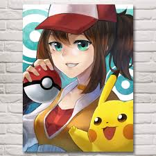 Waliicorners 1 Piece Cartoon Wall Stickers Pokemon Pocket Monster Digimon Monster Anime Poster Canvas Paintings For Children Room Wall Decor Waliicorner S Store