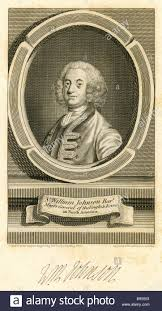 Antique engraving of Sir William Johnson, 1st Baronet Stock Photo ...