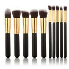 black gold makeup brush set cosmetic