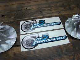 On 3 Performance Full Color Small Window Decal Set On3performance