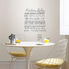 Wall Pops Black Kitchen Rules Wall Quote Decal Dwpq2938 The Home Depot