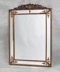 gold decorative framed wall mirror