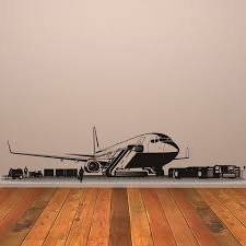 Bomber Aeroplane Vinyl Wall Stickers Airplane Wall Decals Decor Independence