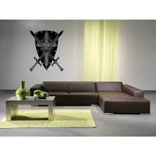 Shop Shield And Sword Wall Art Sticker Decal Overstock 11444798