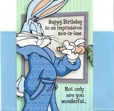 Funny Happy Birthday Impressive Son In Law Bugs Bunny Hallmark Card Ebay