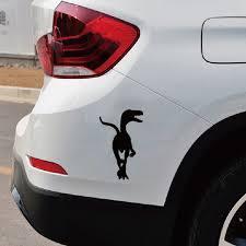 6 Color 2pcs 16 16cm Running Velociraptor Vinyl Car Sticker Creative Cartoon Dinosaur Car Decal Black Red White Silver Gold Blue Wish