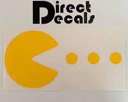 Pac Man Decals Etsy