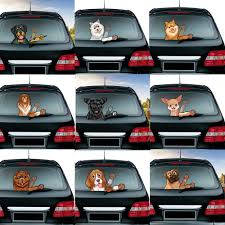 New Car Styling Lovely Beagle Dog Waving Wiper Decals Pvc Rear Window Wiper Sticker Rear Windshield Car Stickers Auto Decoration Car Stickers Aliexpress