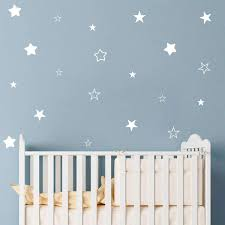 Amazon Com Makeyes Stars Hollow Solid Wall Stickers Stars Sweet Wall Decals Baby Bedroom Sleeping Decoration Wall Decor Diy Peel Stick Mg018 White Kitchen Dining