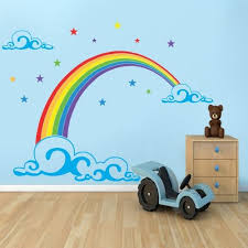 Rainbow And Butterfly Wall Stickers Google Search Girls Room Wall Art Rainbow Wall Stickers Childrens Wall Murals