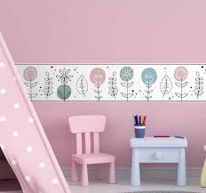 Spring Flower For Kids Wall Border Sticker Tenstickers