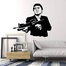 Amazon Com Andre Shop Wall Stickers Vinyl Decal Scarface Gangster Mafia Shootingig1678sx6m2 Home Kitchen