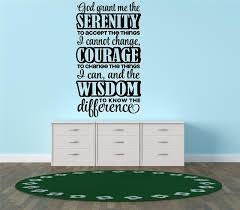 Decal God Grant Me To Accept Things I Cannot Change 15x30 Contemporary Wall Decals By Design With Vinyl