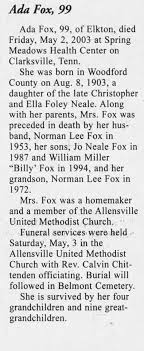 Ada Neale Fox obituary - Newspapers.com