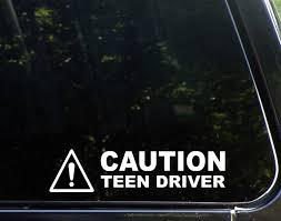 Amazon Com Diamond Graphics Caution Teen Driver 9 X 2 Die Cut Decal Bumper Sticker For Windows Cars Trucks Etc Automotive