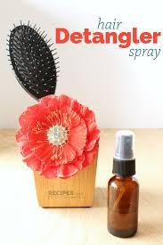 homemade hair detangler spray recipes