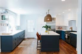 navy blue kitchen cabinets painted