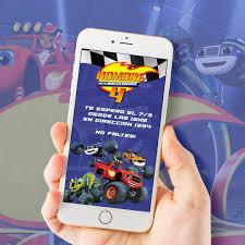 Blaze Y Los Monster Machines Invitacion Cumpleanos Virtual 100