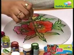 decorate a glass plate you