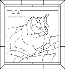 stained glass tabby cat