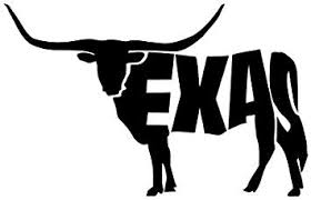 Amazon Com Texas Longhorn Cow Vinyl Decal Sticker Black Automotive