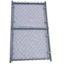 Unbranded 3 Ft X 6 Ft Metal Single Reinforced Chain Link Fence Gate 03 010 020 The Home Depot