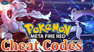 Pokemon Meta Fire Red X and Y - Cheat Codes - YouTube