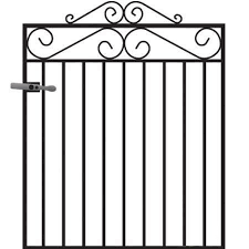 marlborough wrought iron garden gate