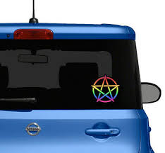 Pentagram Cutout Lgbtq Bumper Sticker Car Decal Wicca Pagan Gay Lesbian Asexual 3 99 Picclick