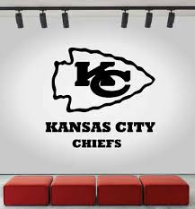 Kansas City Chiefs Nfl Wall Decal Sport Logo Nfl Vinyl Home Decor Room