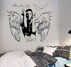 Amazon Com Sakhd Prince Decal When Doves Cry Cele Urban Pop Singer Wall Art Sticker Poster Home Decoration Removable Kids 42x84cm Baby