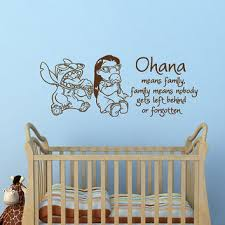 Wall Decal Ohana Means Family Family From Fabwalldecals On Etsy