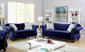 dark blue fabric sofa chaise