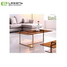 shiny stainless steel coffee table
