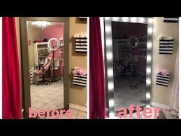 diy full length lighted mirror with 20