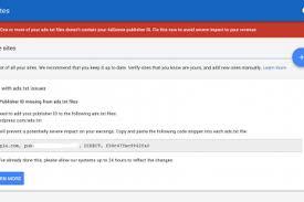 error message on google adsense account