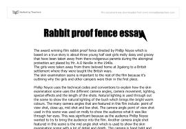 Summary Rabbit Proof Fence Essay Student Essays