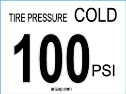 Tire Pressure Decal 100 Psi Mysite
