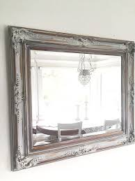 large ornate wall mirror antique wood