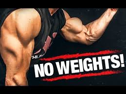 arm workout without weights biceps and