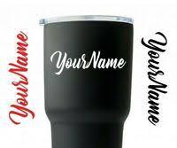 Yeti Cup Monogram Initial And Name Decal 23 Colors Tumbler Monogram Ebay