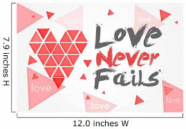 Love Never Fails White Wall Decal Wallmonkeys Com