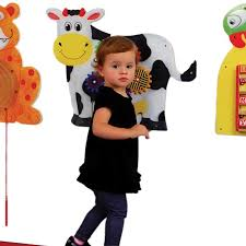 Anatex Kids Cow Design Activity Educational Toys Fun Daycare Learning Wall Mounted Panel 1043 Cwp9027